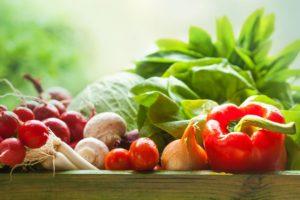 lush fresh vegetables